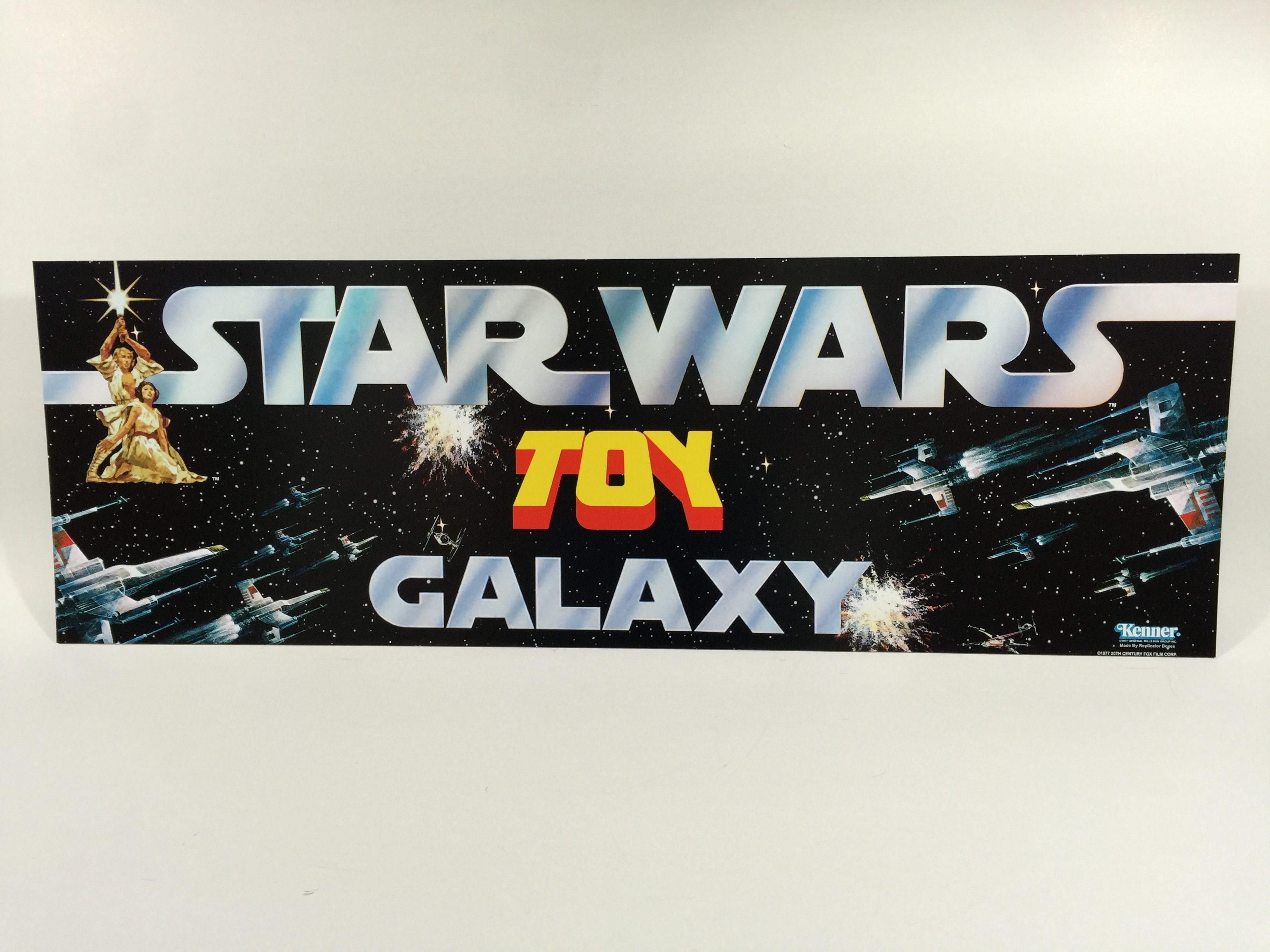 reproduction vintage star wars toy galaxy shop store display header 36 x 12. Black Bedroom Furniture Sets. Home Design Ideas