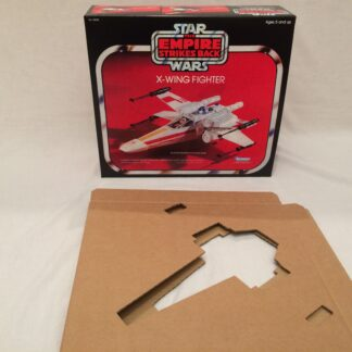 Replacement Vintage Star Wars The Empire Strikes Back X-Wing box and inserts