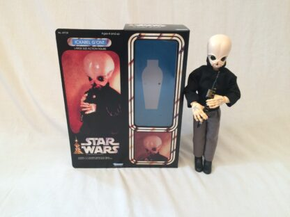 "Custom Vintage Star Wars 12"" Ickabel G'on't Cantina Band Member box and inserts"