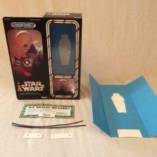 """Custom Vintage Star Wars 12"""" Nalan Cheel Cantina Band Member box and inserts"""