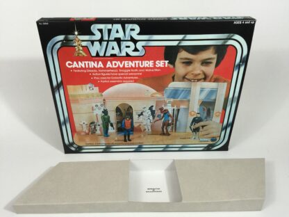 Replacement Vintage Star Wars Cantina Adventure playset box + inserts