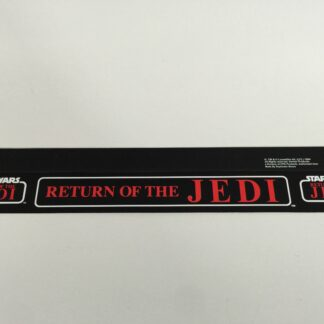 "Replacement Vintage Star Wars Kenner Return Of The Jedi shelf talker 23"" long"