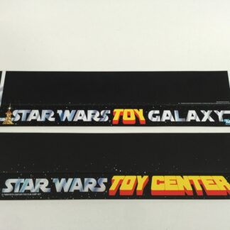 "Replacement Vintage Star Wars 20"" long Toy Galaxy and Toy Center shelf talkers"