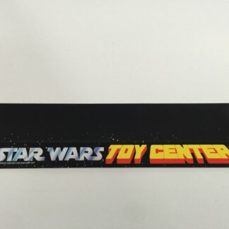 "Replacement Vintage Star Wars 20"" long Toy Center shelf talker"