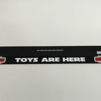 """Replacement Vintage Star Wars Palitoy Empire Strikes Back shelf talker 24"""" long Toys Are Here logo"""