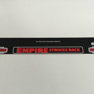 "Replacement Vintage Star Wars Palitoy shelf talker large Empire Strikes Back logo 24"" long"