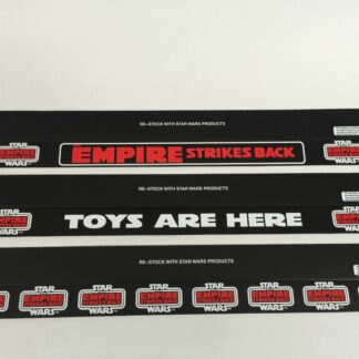 """Replacement Vintage Star Wars Palitoy Empire Strikes Back shelf talker 24"""" long x 3 versions"""