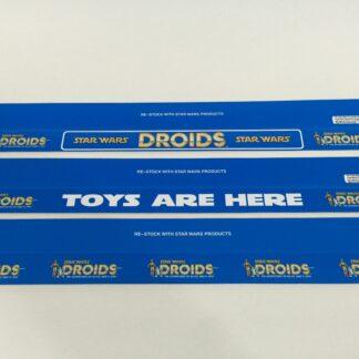"Vintage Star Wars Droids custom shelf talkers 24"" long x 3 versions"