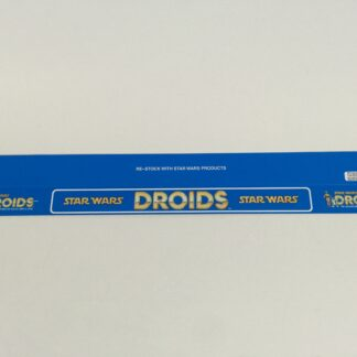 "Vintage Star Wars Droids custom shelf talkers 24"" long large Droids logo"