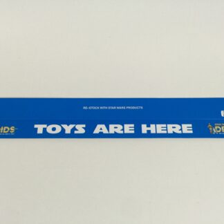 "Vintage Star Wars Droids custom shelf talkers 24"" long Toys Are Here logo"