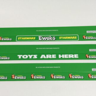 "Vintage Star Wars Ewoks custom shelf talkers 24"" long x 3 versions"
