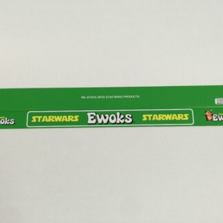 "Vintage Star Wars Ewoks custom shelf talkers 24"" long large Ewoks logo"