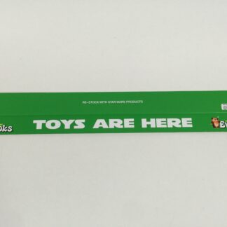 "Vintage Star Wars Ewoks custom shelf talkers 24"" long Toys Are Here logo"