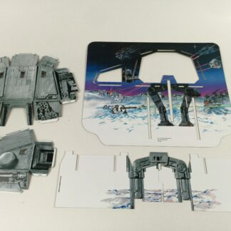 Replacement Vintage Star Wars Empire Strikes Back Hoth Ice Planet backdrop , supports/doors , body and head