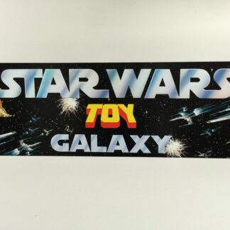 "Reproduction Vintage Star Wars Toy Galaxy shop store display header 36"" x 12"""