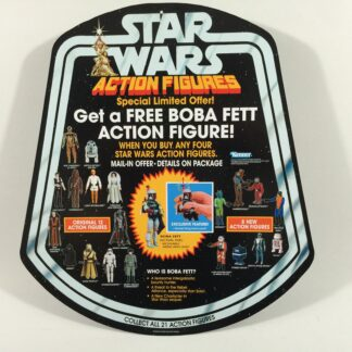"Reproduction Star Wars Prototype 12"" Boba Fett figure shop / store bell display double sided"