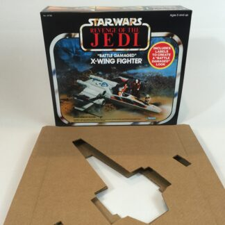 Reproduction Vintage Star Wars Revenge Of The Jedi prototype X-wing box and inserts