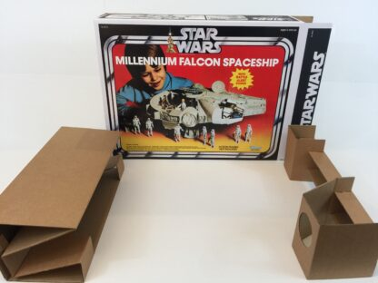 Replacement Vintage Star Wars Millennium Falcon box and inserts