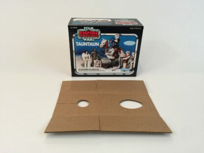 Replacement Vintage Star Wars Empire Strikes Back Kenner solid belly Tauntaun box and inserts