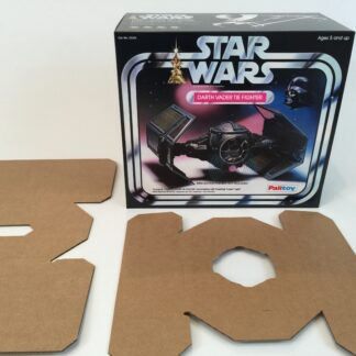 Replacement Vintage Star Wars Palitoy Darth Vader Tie Fighter box and inserts