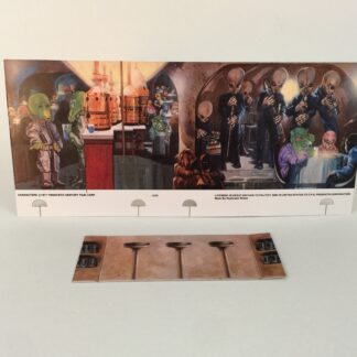 Replacement Star Wars Palitoy Cantina backdrop + bar