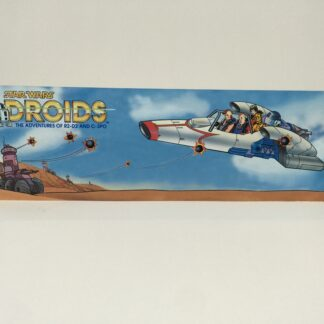 Vintage Star Wars Droids custom display backdrop to fit original grey mail away base or stand alone