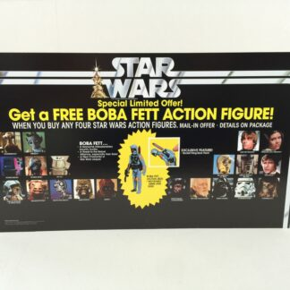 Replacement Vintage Star Wars Boba Fett Figure Offer store shop display header