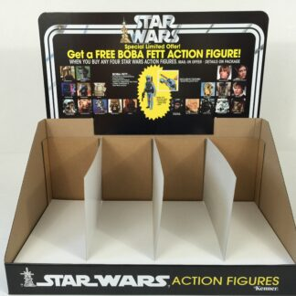Replacemant Vintage Star Wars Boba Fett Figure Offer display bin and header
