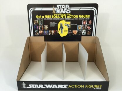 Replacemant Vintage Star Wars Boba Fett Figure Offer display bin and header