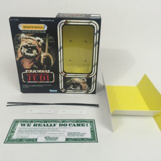 "Custom Vintage Star Wars Return Of The Jedi 12"" Wicket W. Warrick Ewok box and insert"