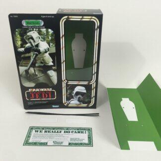 """Custom Vintage Star Wars Return Of The Jedi 12"""" Biker Scout box + insert"""