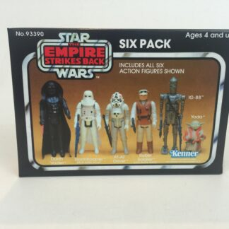Replacement Vintage Star Wars Empire Strikes Back yellow 6-pack box