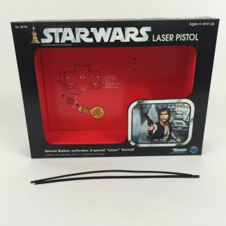 Replacement Vintage Star Wars Han Solo Laser Blaster box and insert