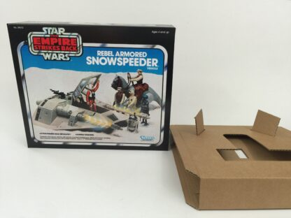 Replacement Vintage Star Wars Empire Strikes Back Snowspeeder blue box and insert