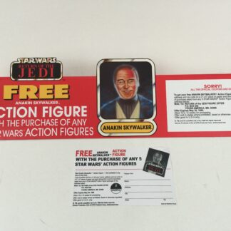 "Replacement Vintage Star Wars Return Of The Jedi Free Anakin Skywalker Offer shelf talker 16"" long"