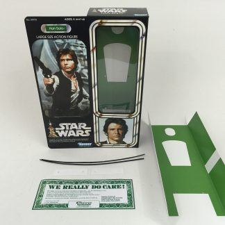 "Replacement Vintage Star Wars 12"" Han Solo box + inserts"