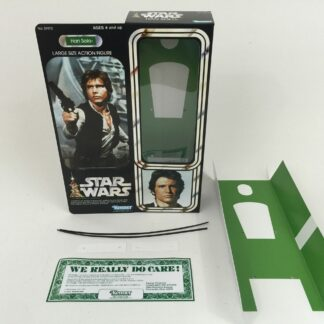 """Replacement Vintage Star Wars 12"""" Han Solo box + inserts"""