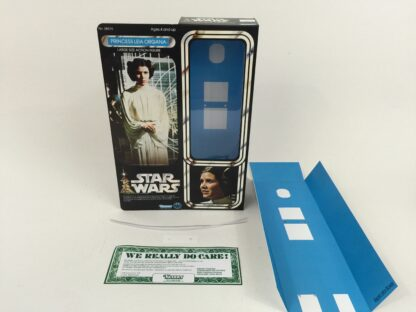 """Replacement Vintage Star Wars 12"""" Princess Leia box + inserts"""