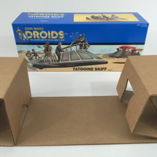 Reproduction Vintage Star Wars Droids prototype Tatooine Skiff box and insert