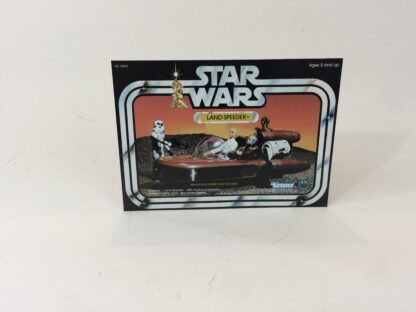 Vintage Star Wars Land Speeder Box Front Only backdrop display ideal for displaying loose collection