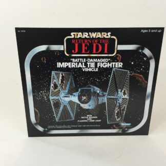 Vintage Star Wars Rotj Battle Tie Fighter box front only backdrop display ideal for displaying loose collection