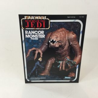 Vintage Star Wars Rotj Rancor Monster box front only backdrop display ideal for displaying loose collection