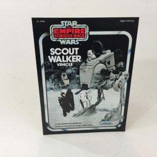 Vintage Star Wars Esb Scout Walker box front only backdrop display ideal for displaying loose collection
