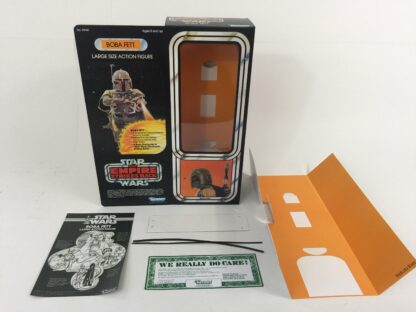 "Replacement Vintage Star Wars Empire Strikes Back 12"" Boba Fett box + inserts"