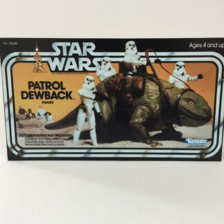 Vintage Star Wars Dewback box front only