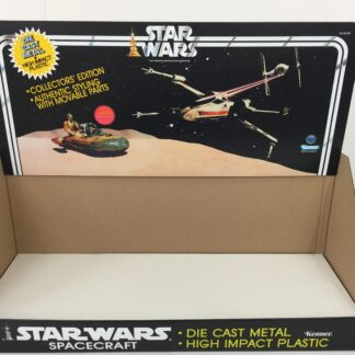 Replacement Vintage Star Wars Die Cast 1st Edition display bin and header