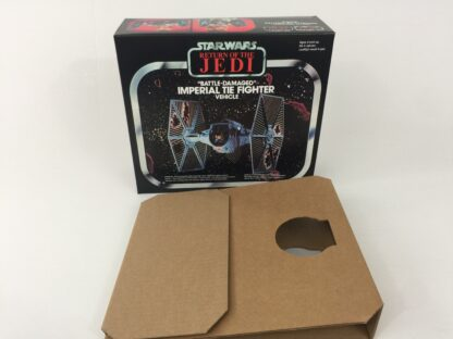 Replacement Vintage Star Wars Return Of The Jedi Bi-logo Battle Damaged Tie Fighter box and insert