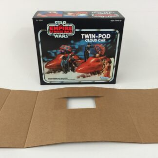 Replacement Vintage Star Wars Empire Strikes Back Kenner Cloud Car box and insert