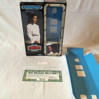 "Custom Vintage Star Wars The Empire Strikes Back 12"" Princess Leia End Of ESB Film box and inserts"