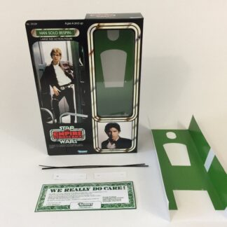 "Custom Vintage Star Wars The Empire Strikes Back 12"" Han Solo Bespin box and inserts"